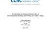 New CCRC Study of Accelerated English at Chabot College