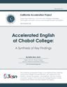 Accelerated English at Chabot College: A Synthesis of Key Findings